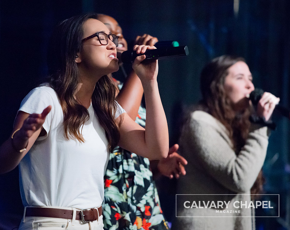 Ali Taylor leads worship