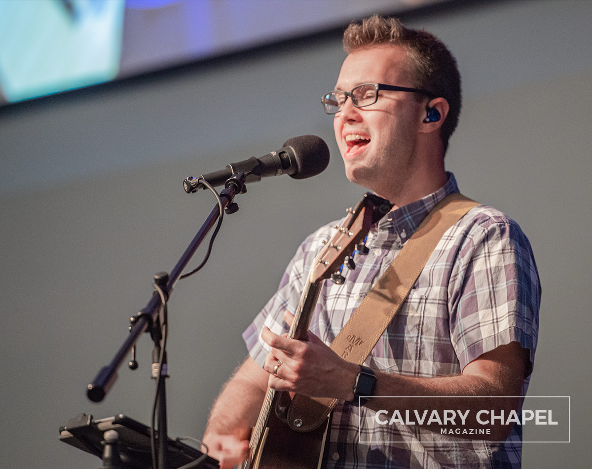 Pastor Matt leading worship
