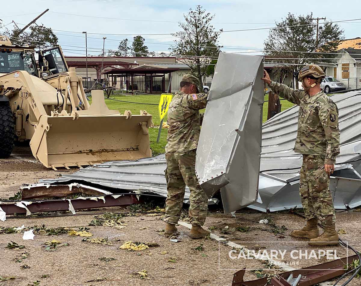National Guard clearing debris