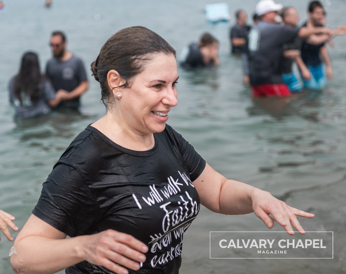 Lady happy after baptism