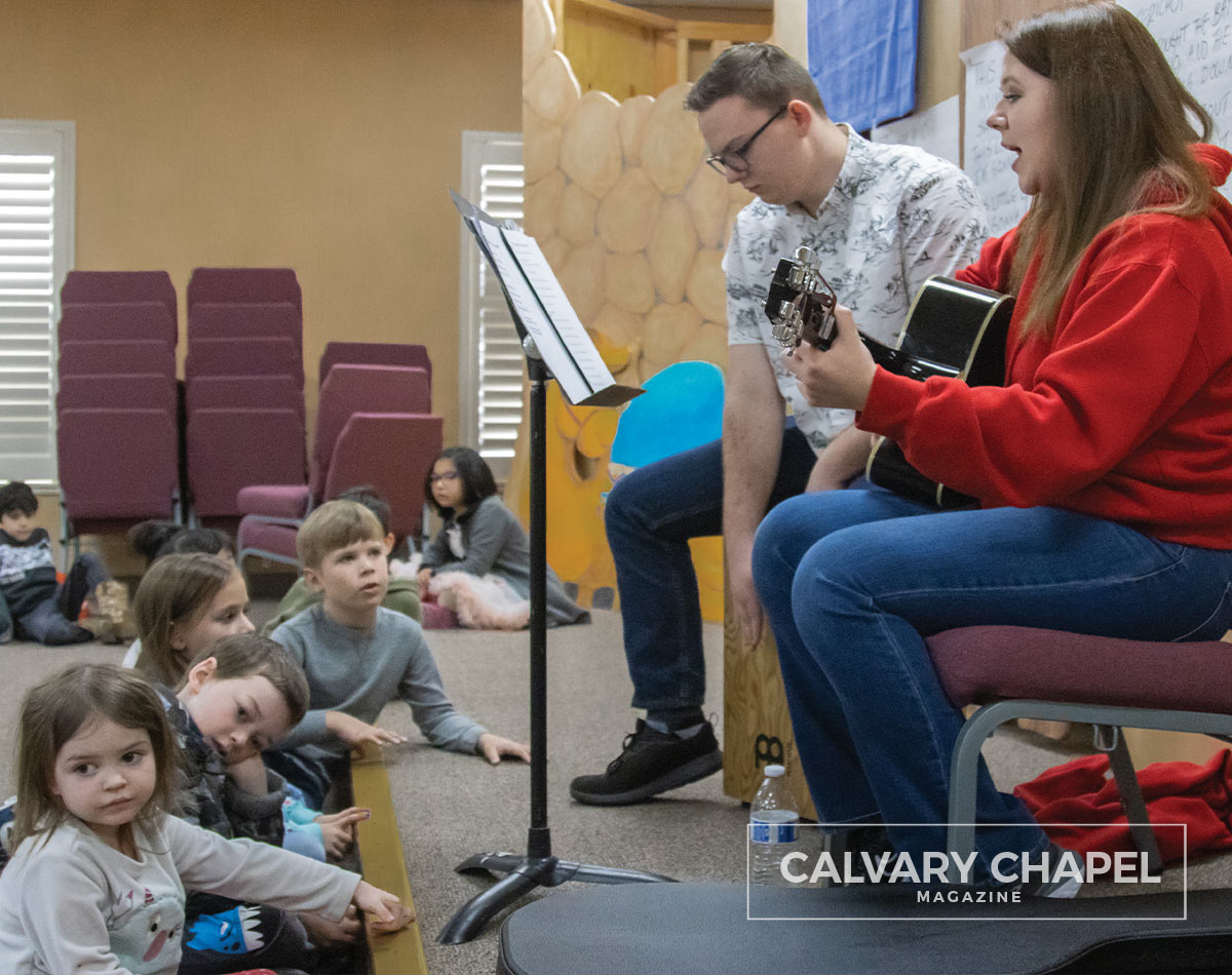 Cassidy leads childrens worship