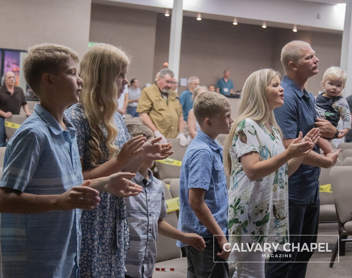 Pastor Phil and Family worship the Lord together