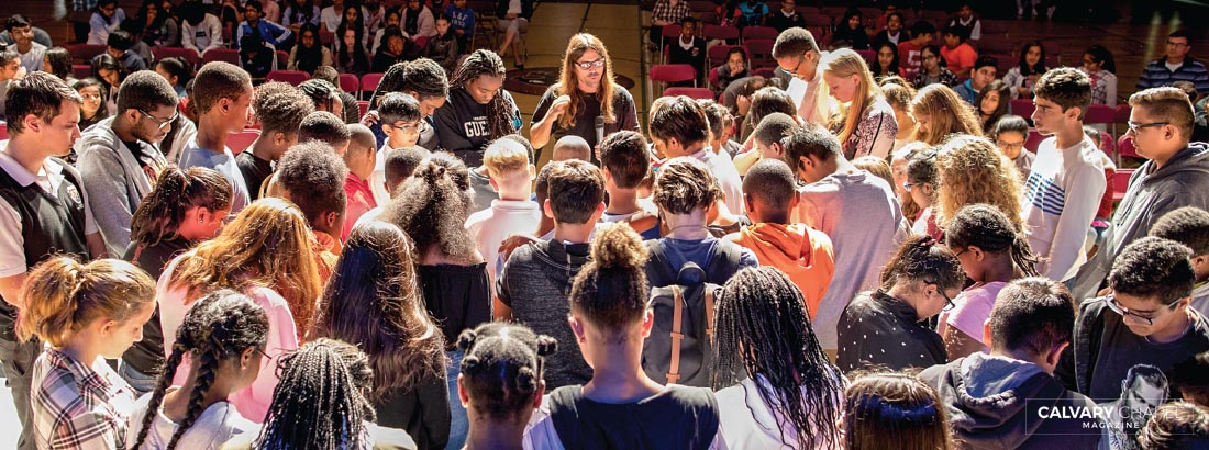 Nearly 80 students at Brampton Christian School in Caledon, Ontario, CAN, came forward to receive or rededicate to Christ. Nearly half of BCS students come from non-Christian families, such as Sikh and Hindu, as BCS is a missional school.