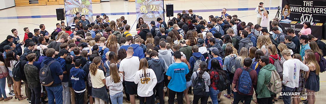 More than 250 teens came forward at San Pasqual High School in San Diego, CA.