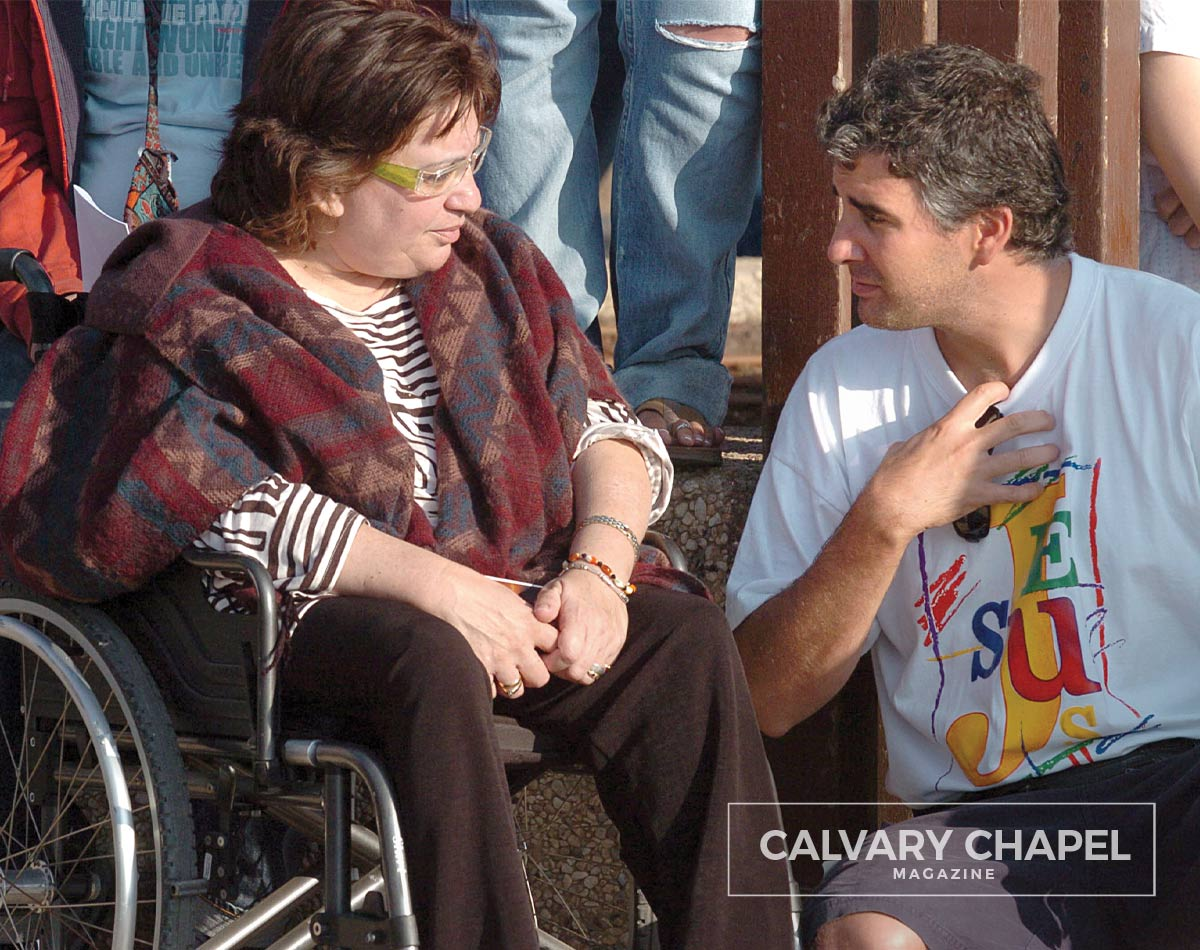 Sharing the Gospel with a disabled woman in Israel