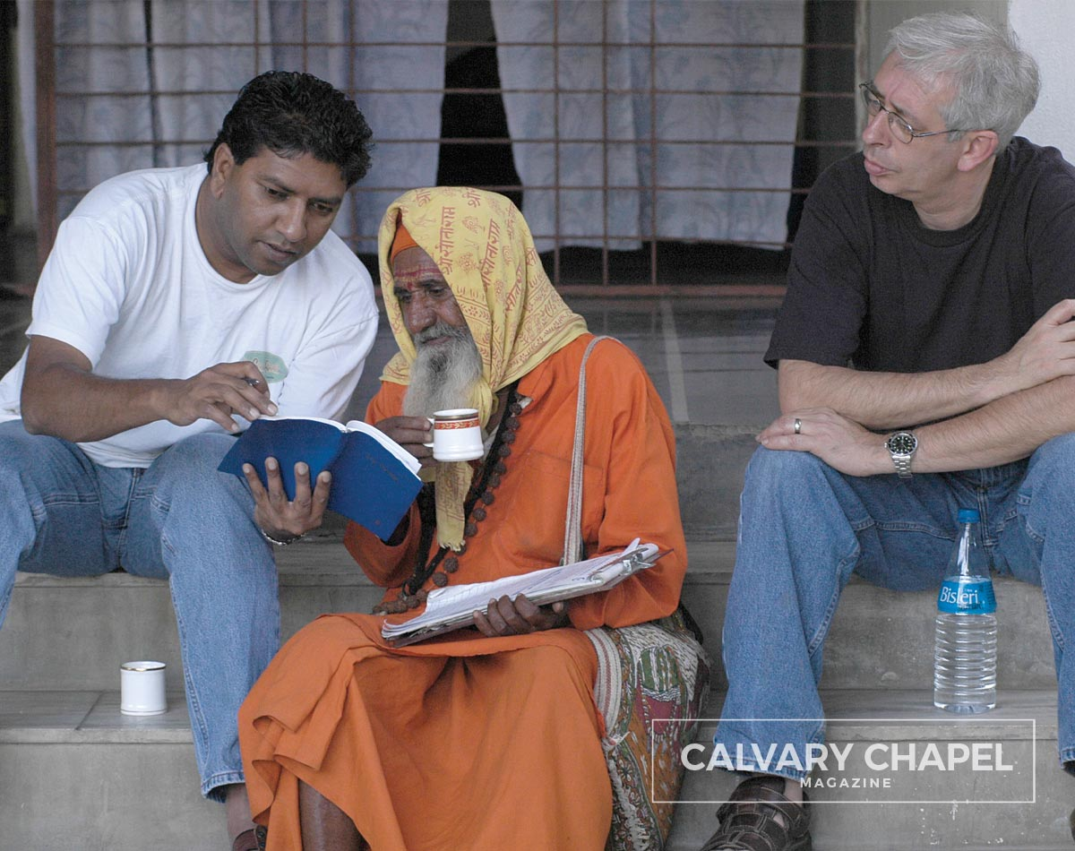 Sharing the Gospel with an Indian priest