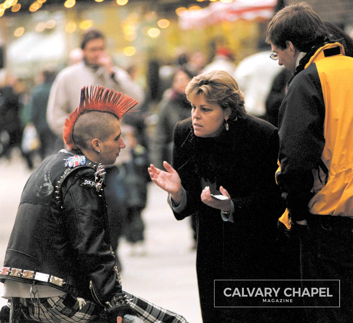 Sharing the Gospel with a man with a mohawk